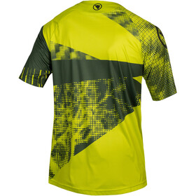 Endura SingleTrack Dots LTD Tech Tee Men, poison green
